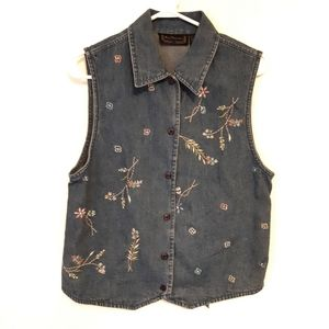 New Direction Vintage Embroidered Jean Shirt